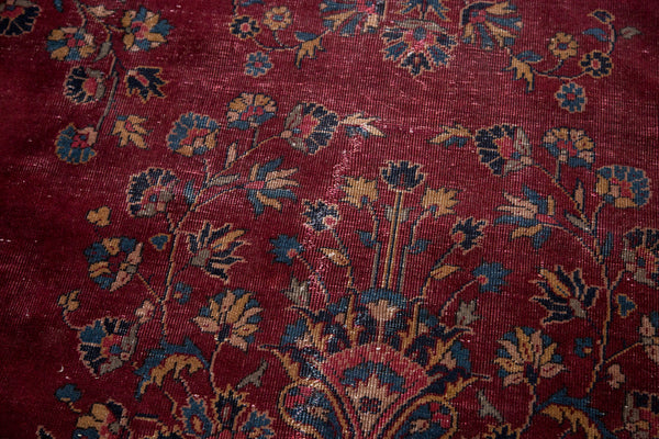 Vintage Distressed Turkish Carpet