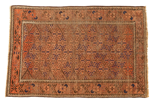Vintage Distressed Belouch Rug