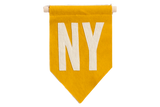 NY Felt Flag Mustard Yellow
