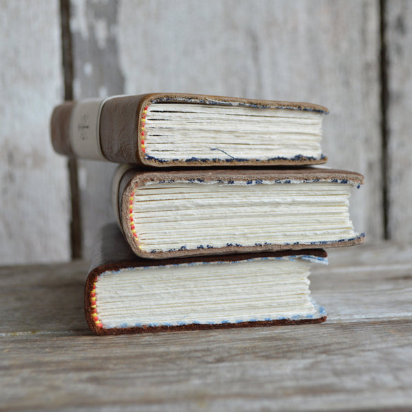 Heirloom Reclaimed Handmade Leather Journal Nutmeg - Old New House