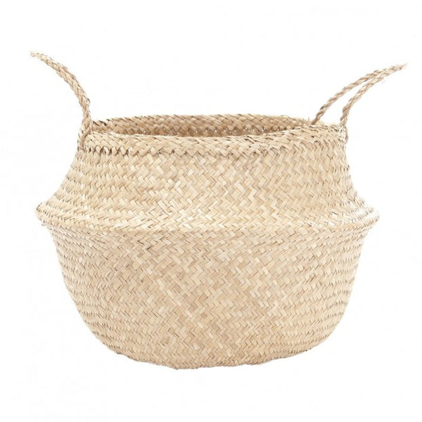 Large Natural Belly Basket by Olli Ella - Old New House