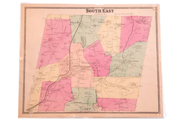 Antique map of SouthEast Putnam County NY