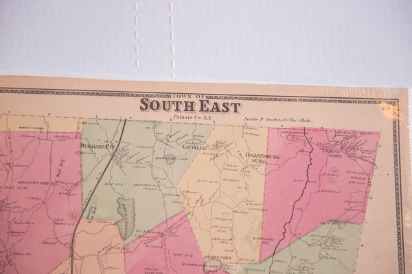 Antique map of South East Putnam County NY