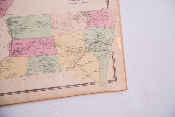 Vintage map of Somers New York and North Salem NY