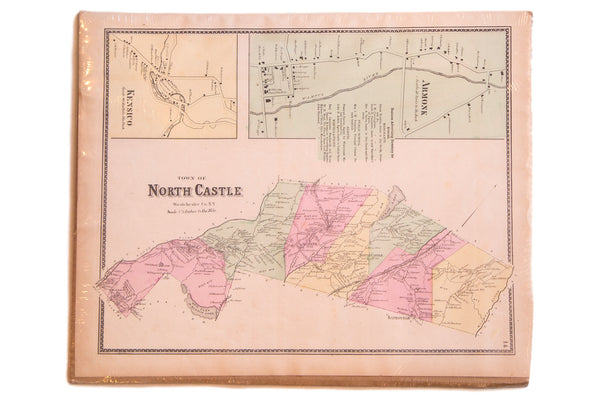 Antique map of Armonk NY and North Castle New York