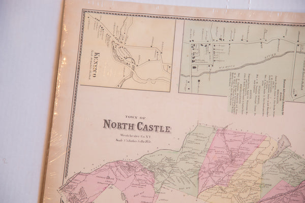 Misstate New York Westchester County Vintage Antique Map of Armonk and North Castle NY