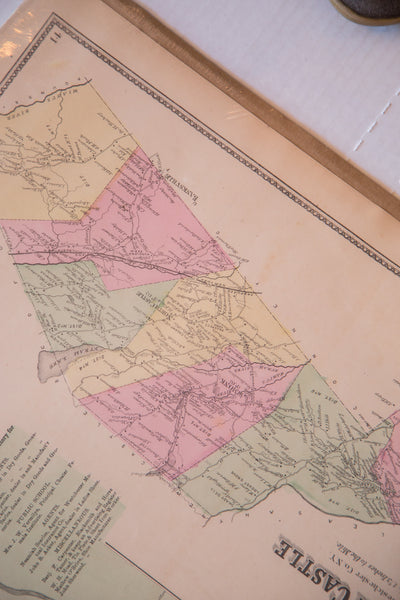 North Castle and Armonk antique map