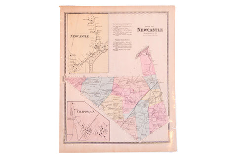Antique map of North Castle and Chappaqua New York