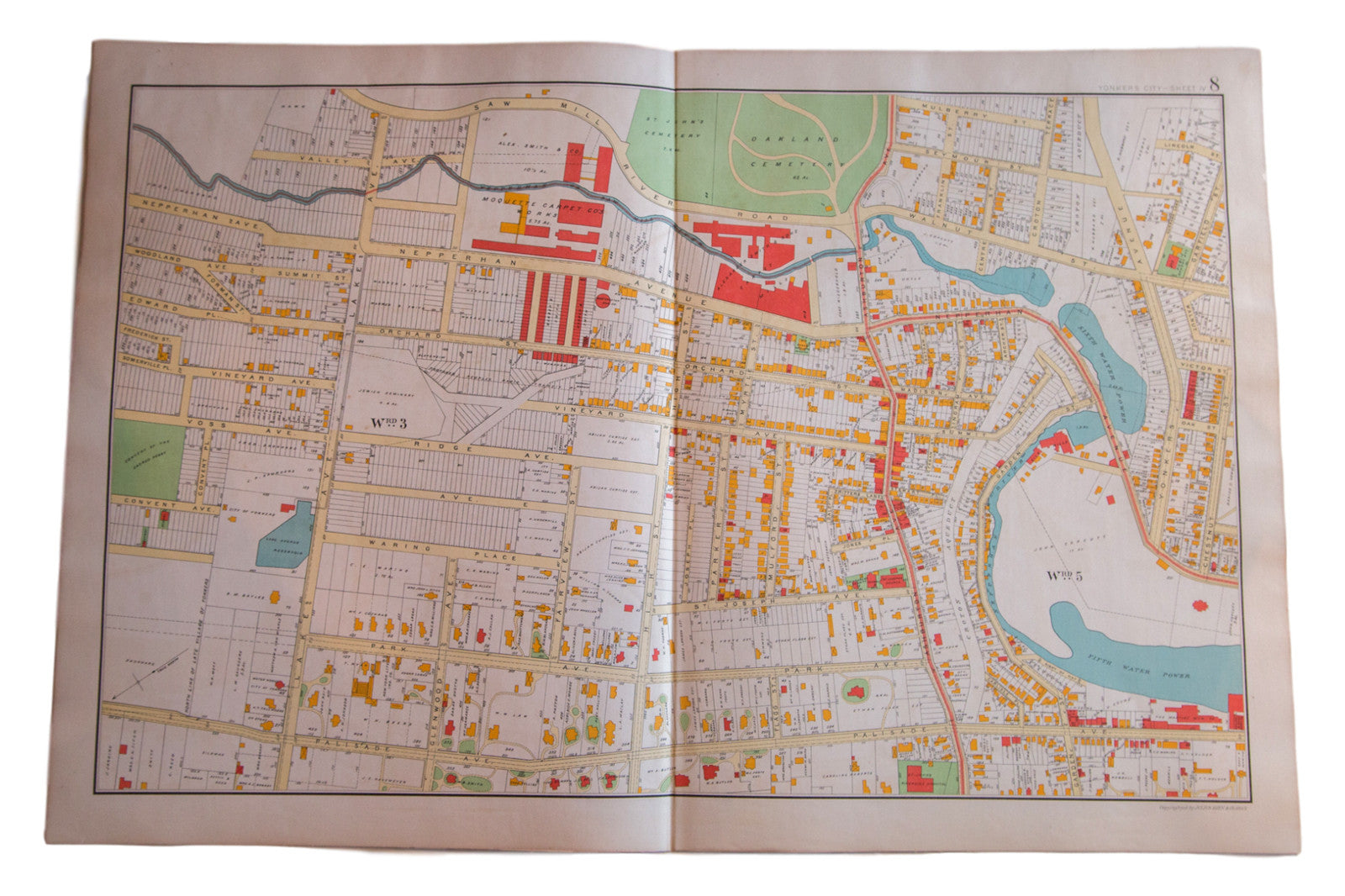 Antique Yonkers NY Map