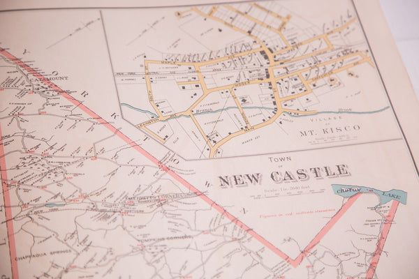 Antique North Castle & New Castle NY Map - Old New House