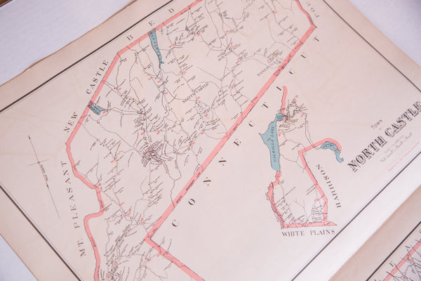 Antique map of the towns of North Castle and New Castle NY