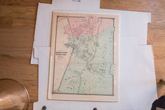 Antique Beekmantown, Tarrytown, and Irving Map