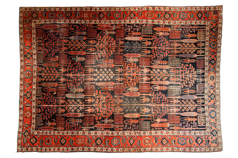 Antique Kurdish Bijar Carpet