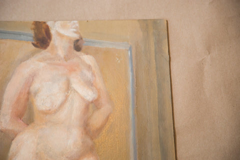 Vintage Full Figure Nude Painting
