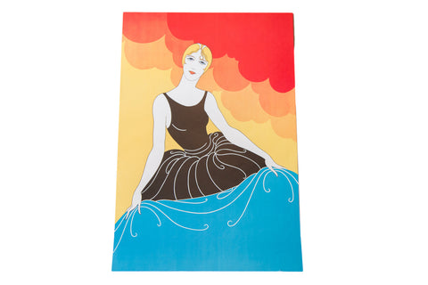 Art Deco Bather Lithograph