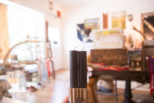 Made in NY Beeswax Candle Black Tapers