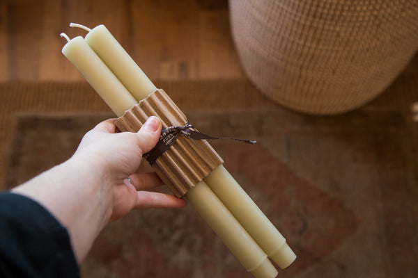 Made in NY Beeswax Candle Tapers - Old New House