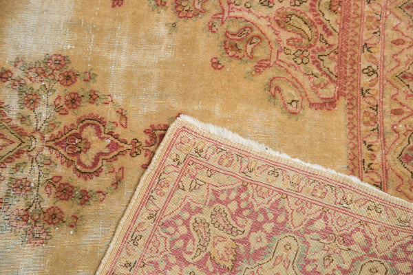 Distressed Vintage Kerman Rug