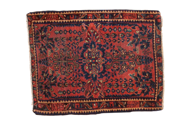 Antique Mohajeran Sarouk Square Rug