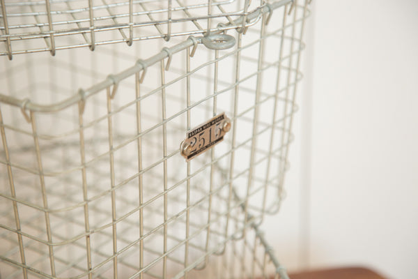Mid Century Vintage Wire Basket - Old New House