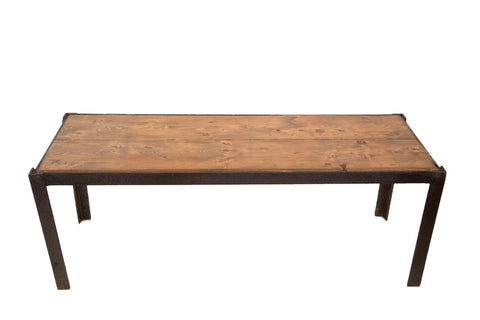 Reclaimed Industrial Bench Table