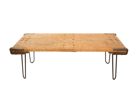 Reclaimed Industrial Coffee Table Hairpin Legs