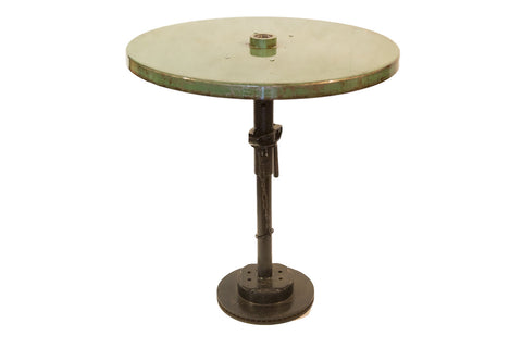 Reclaimed Industrial Bistro Table Light Green