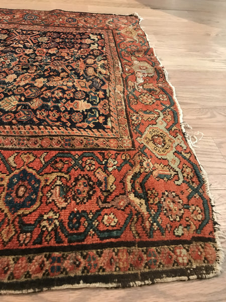 4x7 Antique Fereghan Rug - Old New House
