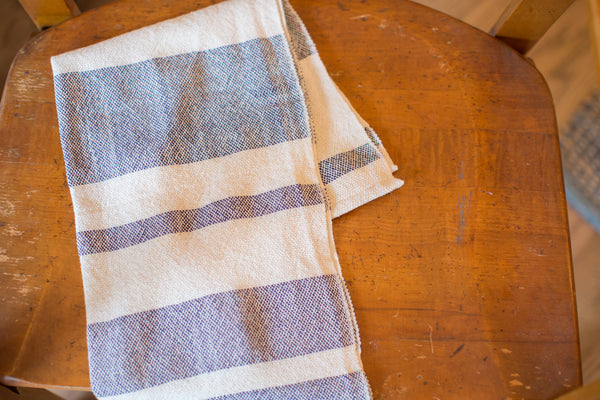 Handwoven in USA Loomination Dish Towel Navy Blue
