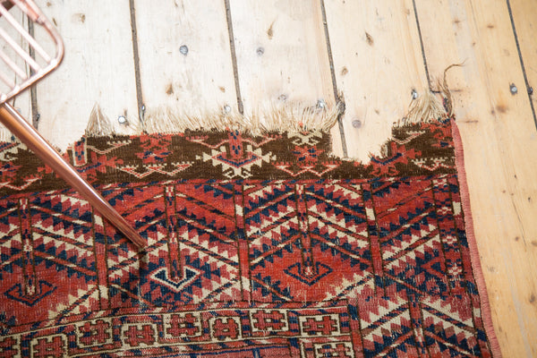 Antique Turkmen Square Rug