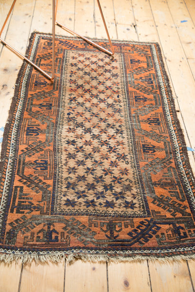 Vintage Camel Hair Belouch Rug