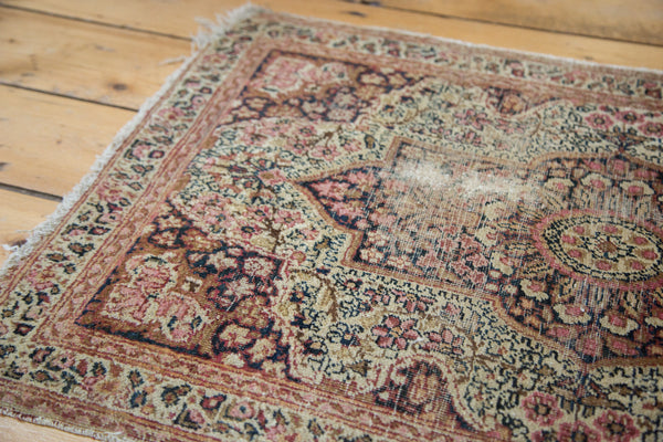 Antique Kerman Rug Mat