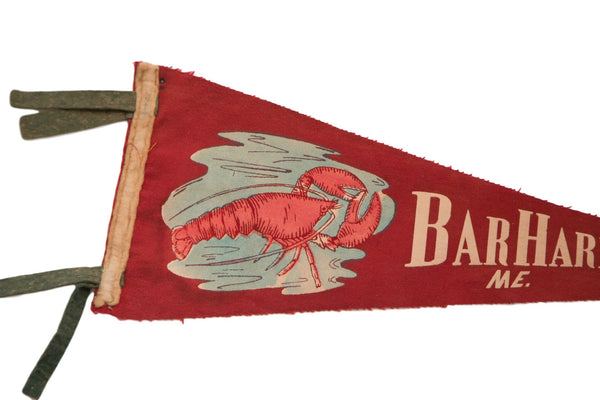 Bar Harbor Maine with Lobster Felt Flag - Old New House