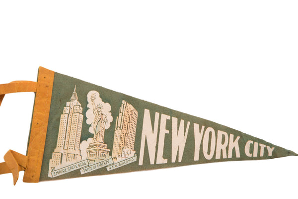 New York City Statue of Liberty Felt Flag - Old New House