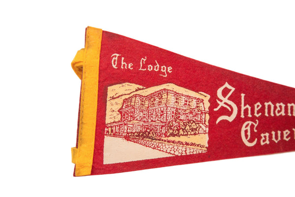 The Lodge Shenandoah Caverns VA Felt Flag - Old New House