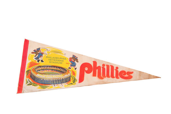 1970s Phillies Philadelphia Veterans Stadium Felt Flag - Old New House