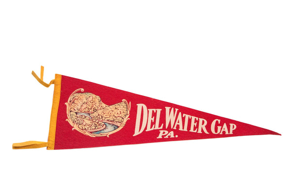Del Water Gap PA Felt Flag - Old New House