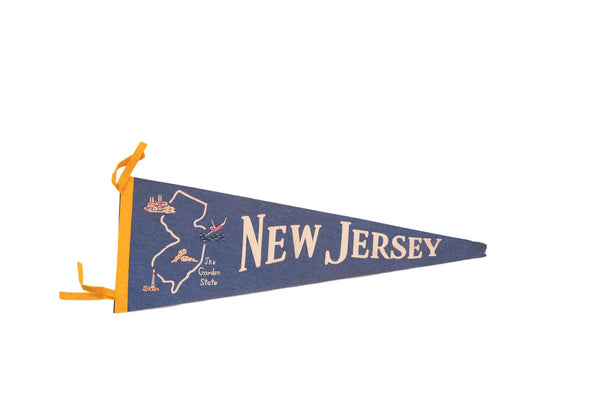 New Jersey Garden State Felt Flag - Old New House