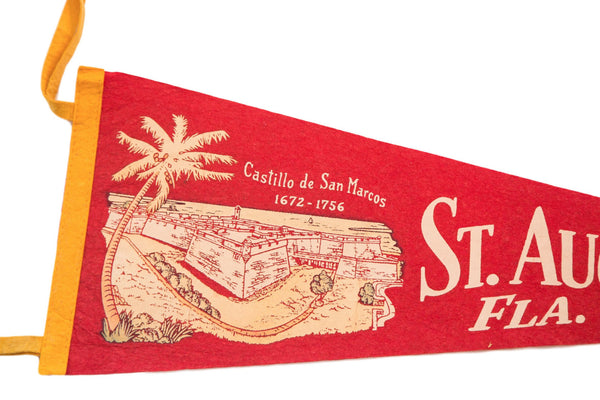 Castillo de San Marcos St Augustine Florida Felt Flag - Old New House