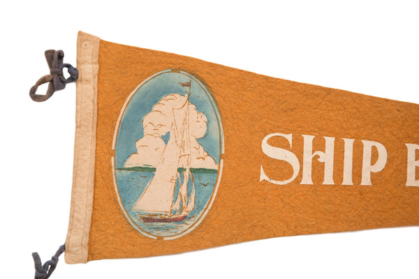 Ship Bottom NJ Long Beach Island Felt Flag - Old New House