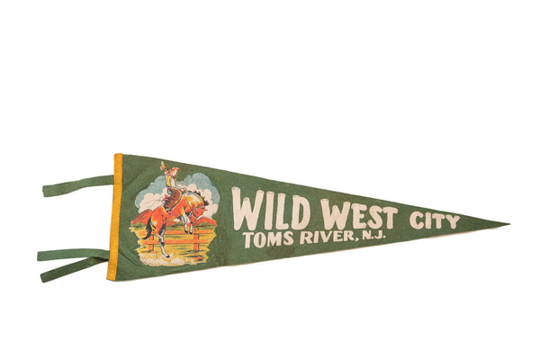 Wild West City Toms River Felt Flag - Old New House