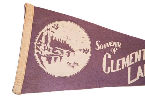 Souvenir of Clementon Lake Park NJ Felt Flag - Old New House