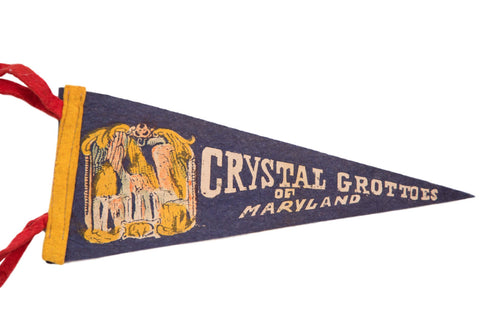 Crystal Grottoes of Maryland Felt Flag - Old New House