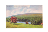 Vintage Catskills NY Postcard The Lake at Onteora Park Tannersville