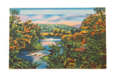 Vintage Catskills NY Postcard Landscape Scene with Lake and Mountain