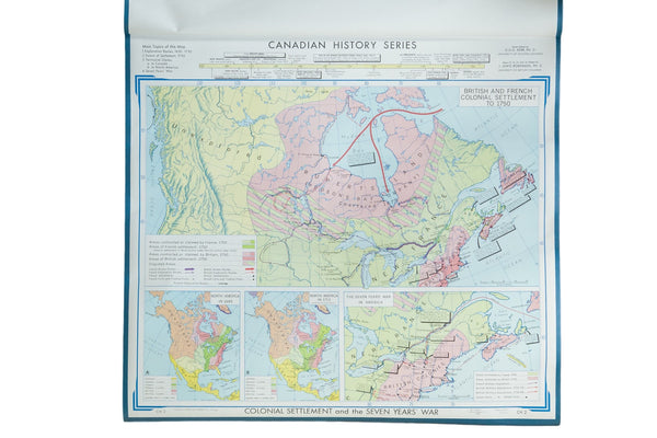 Vintage Denoyer-Geppert Canadian History Map Series