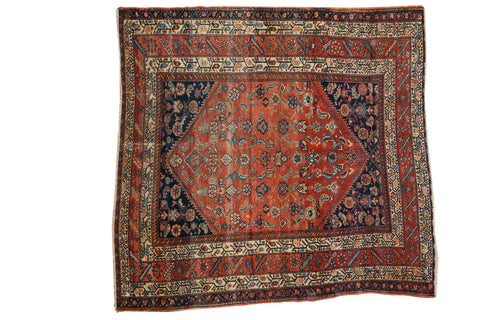 5.5x5.5 Antique Fine Malayer Square Rug // ONH Item 3930
