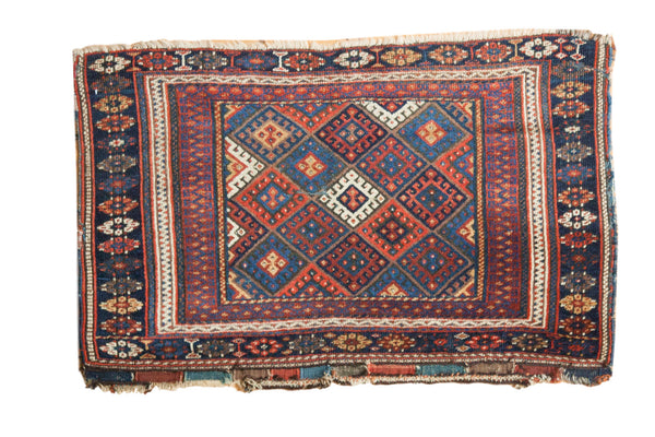 Antique Jaff Kurd Bag Face Rug Mat