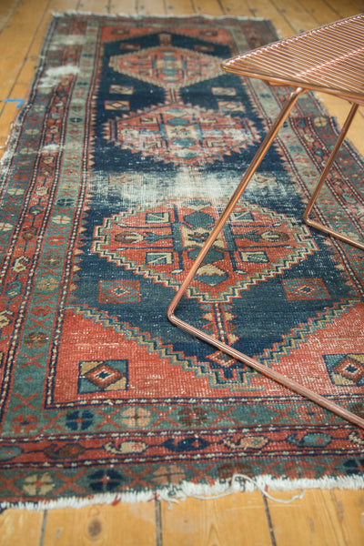 Antique Heriz Area Rug Runner