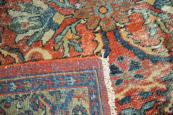 Vintage Mahal Carpet Front and Back